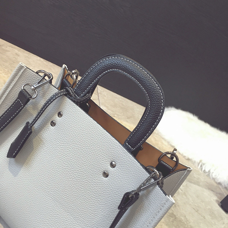 Image 4 - Женская сумка wenjie brother, новинка 2018, одноцветная сумка, Повседневная сумка, большая вместительность, модная сумка через плечо-in Сумки с ручками from Багаж и сумки