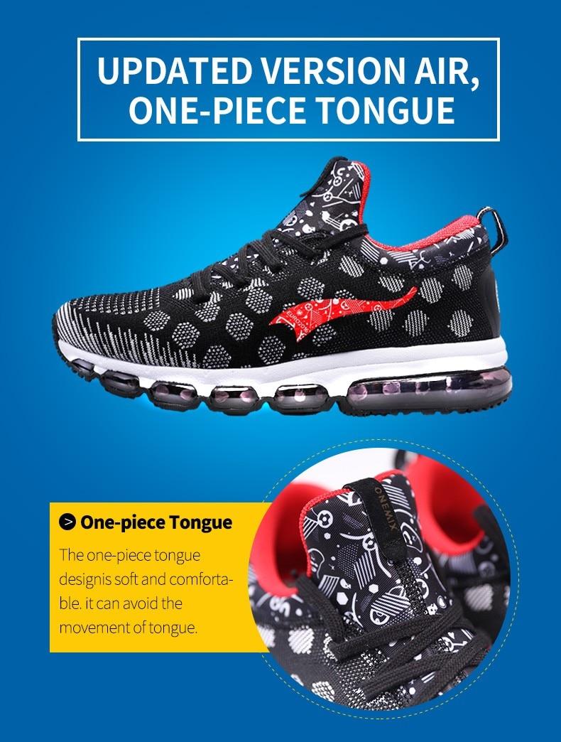 Onemix Running Shoes for men women's Sneakers Elastic Women Jogging Shoes Black Trainers Sport Shoes for outdoor jogging walking 7