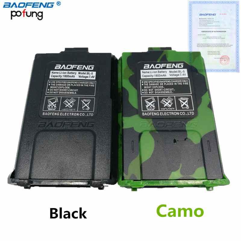 Original Baofeng UV-5R BL-5 7.4V 1800mah Li-Ion Battery For Baofeng UV-5RE BF-F8HP Walkie Talkie Accessories UV5R Two Way Radio