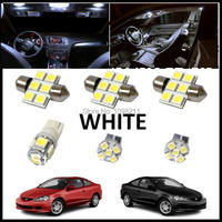 6PCS Set White LED Lights Interior Package Kit For Acura RSX 2002 2006