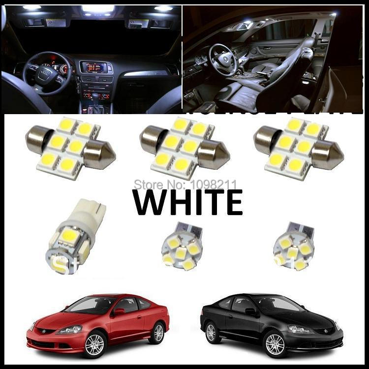 LED Interior Kit PCS Set Lights White Package For Acura RSX - Acura rsx accessories