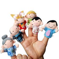 6 шт. палец даже повествование хорошие игрушки рук Кукольный для ребенка подарок AR Игрушки Челнока Y711