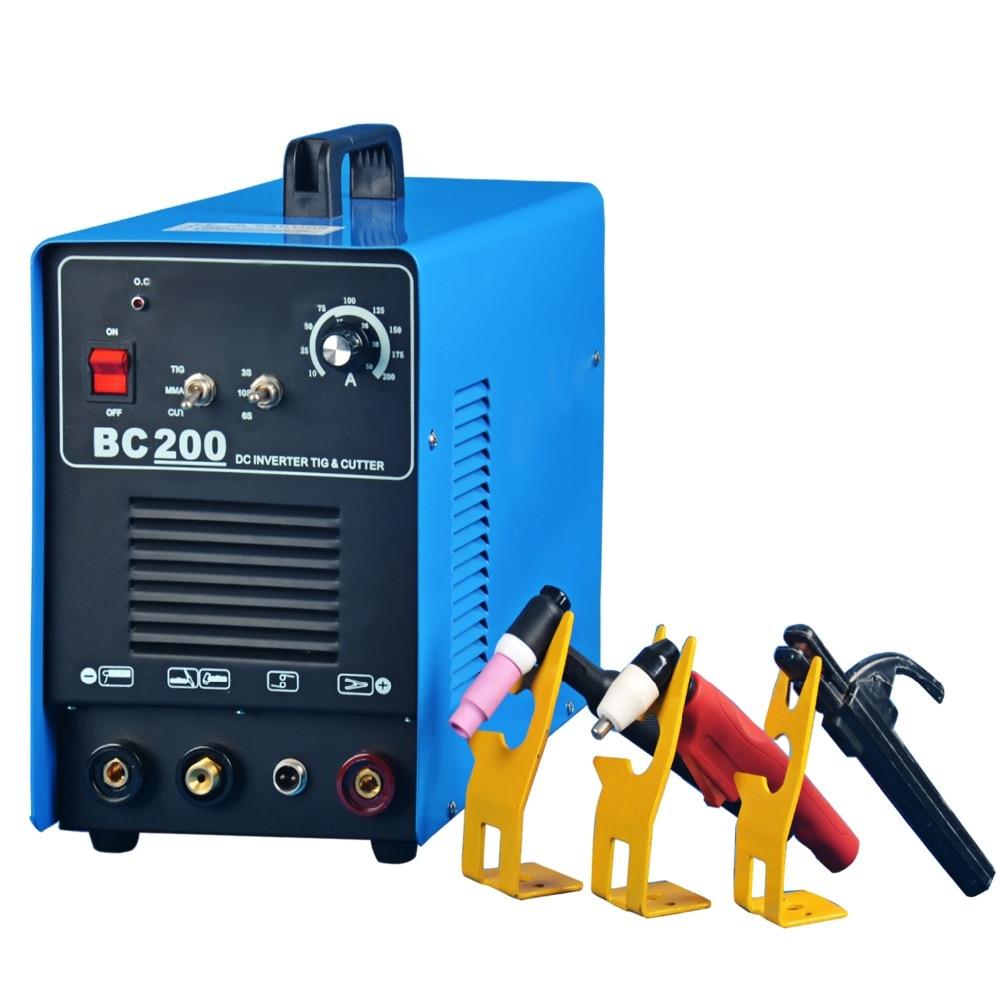 Rstar BC200 Plasma Cutter Tig Stick Schweißer 3 in 1 Combo Schweißen Maschine, 50Amp Plasma Cutter, 200AMP TIG/Stick Schweißer