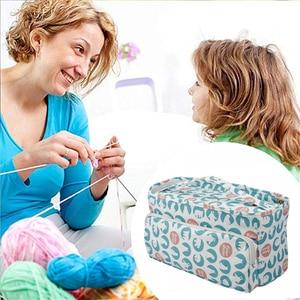 Image 4 - KOKNIT 12 Styles Knitting Bag Organizer Yarn Storage Case For Crocheting Hook Knitting Needles Wool Storage Tote Bag For Women