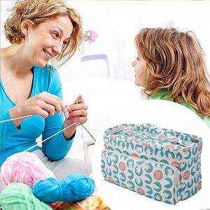 Image 4 - KOKNIT 12 stilleri örgü çanta düzenleyici iplik saklama kutusu Crocheting için kanca örme İğneler yün saklama kutusu çanta kadınlar için
