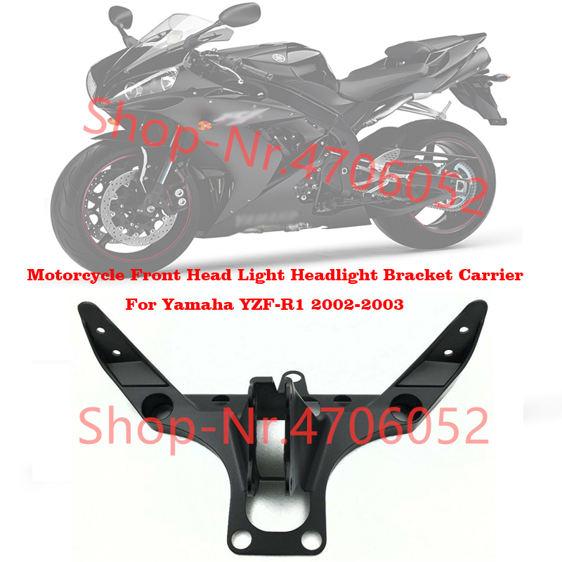 Motorcycle Front Head Light Headlight Bracket Carrier For Yamaha YZF-R1 2002-2003