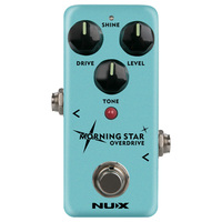 NUX Morning Star NOD 3 Blues Overdrive Electric Guitar Effect Pedal True Buffer Bypass Mini Core Effects Classic Blues Breaker