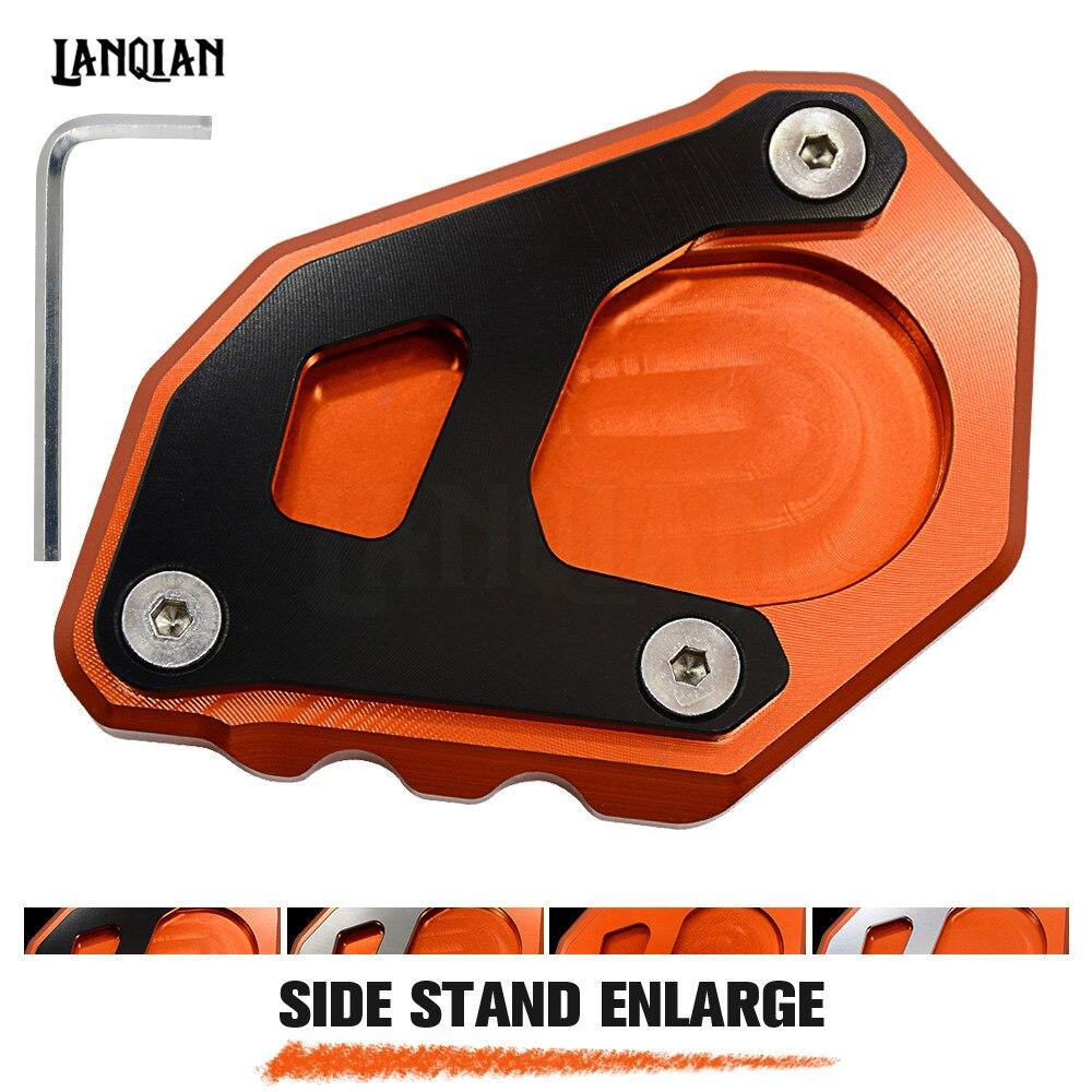 Для KTM 1050 1090 1190 1290 Приключения/1290 супер Приключения R мотоцикла с ЧПУ Kickstand Сторона Стенд плиты Pad увеличить расширение