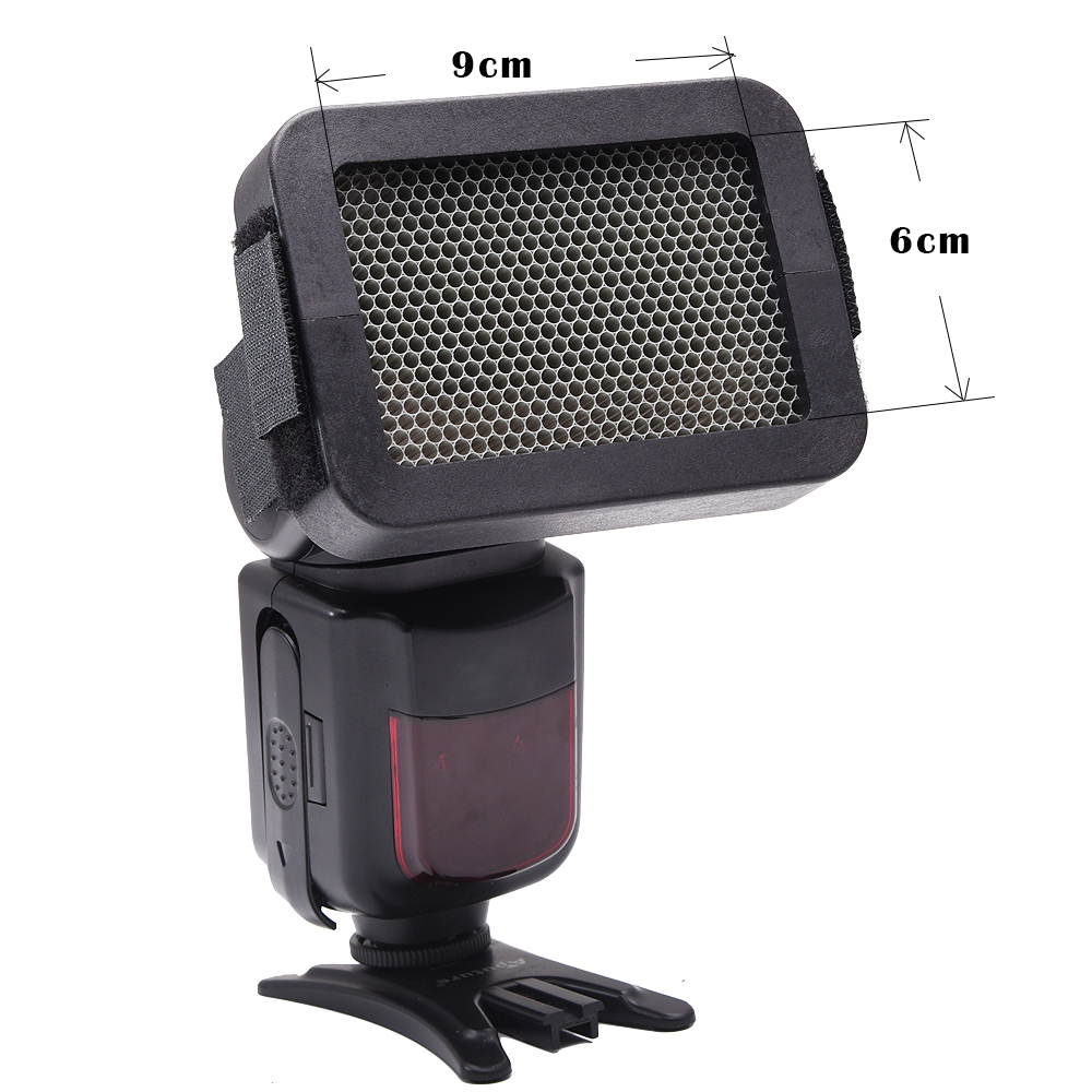 SETTO 1/4-Inch Universal Honeycomb Grid for External Camera Flashes 1/4