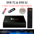 1 Year Europe Cccam Server HD KII Pro DVB-T2 DVB-T2 Tuner Android Tv Box Full 1080P Italy Spain Arabic Cccam Cline Media Player