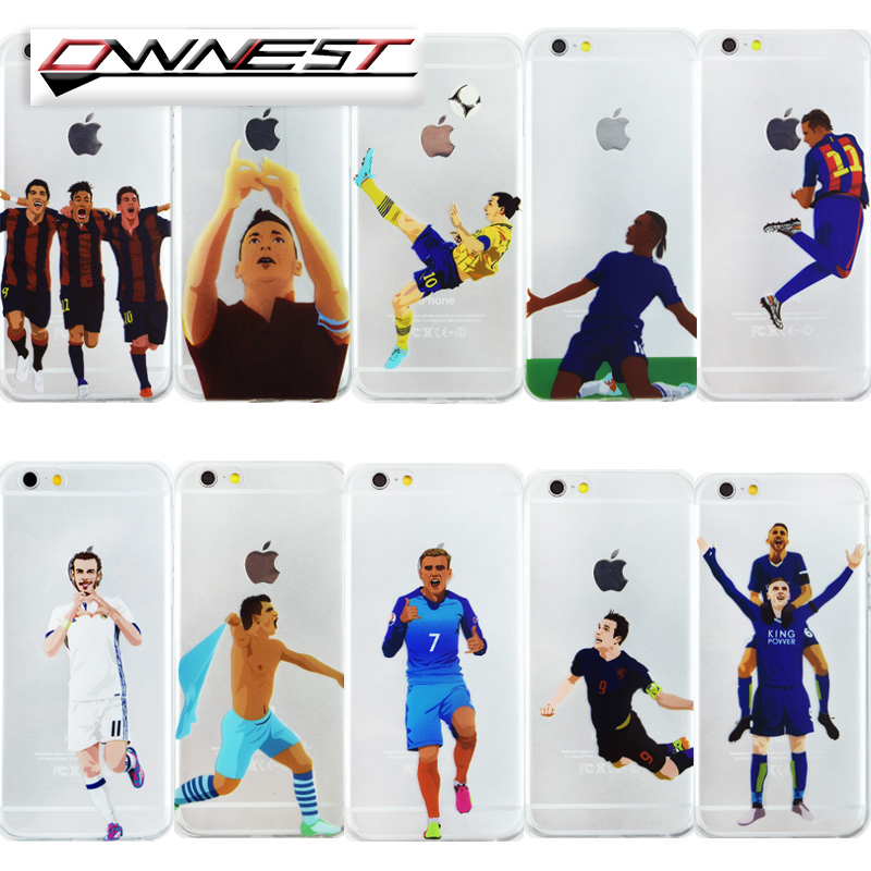 OWNEST FOOTBALL movement Transparent Silicone Soft TPU cover phone case for iphone 7 7 Plus 5 5s SE 6 6s