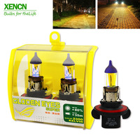 XENCN H13 9008 12V 60/55W 2300K Golden Eyes Light Car Halogen Headlights Super Yellow Bulbs for Hummer Dodge Chevrolet 2pcs