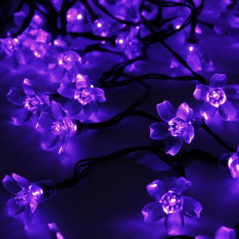 Purple Outdoor Fairy Lights - Outdoor Lighting Ideas