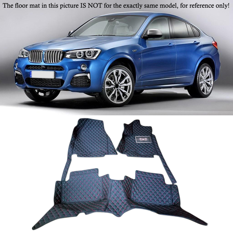 Customs Car Floor Mat Interior Leather Waterproof Durable Special Floor Mats & Carpets pads For BMW X4 F26 2014 2015 2016 5 Seat full surrounded right steering rhd waterproof carpets durable special car floor mats for skoda octovia yeti superb most models