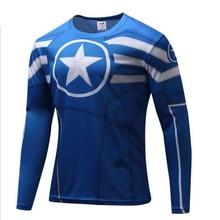 Men Fashion Casual Shirt Round Collar Superheroe Batman Avengers Captain America Long Sleeve T-shirt Clothing Boy Tshirt Cartoon