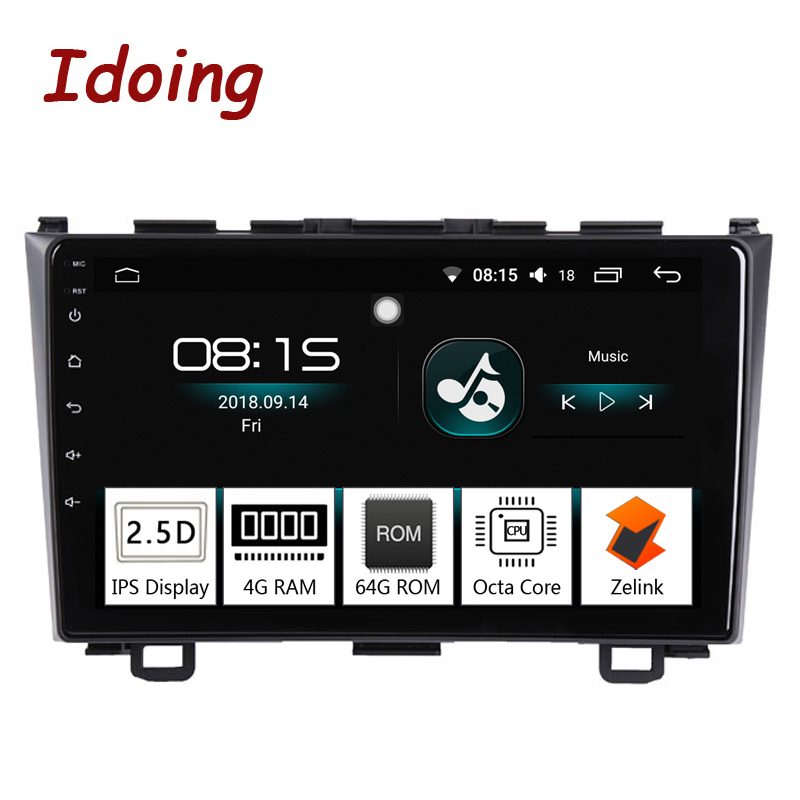 Je fais 9 4G + 64G Octa Core 1 Din Voiture Android 8.0 Radio Multimédia Lecteur Fit Honda CRV 2006-2011 2.5D IPS GPS Navigation Glonass