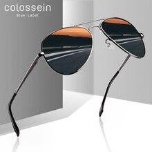 COLOSSEIN Sunglasses Men Polarized Brand Classic Metal Pilot