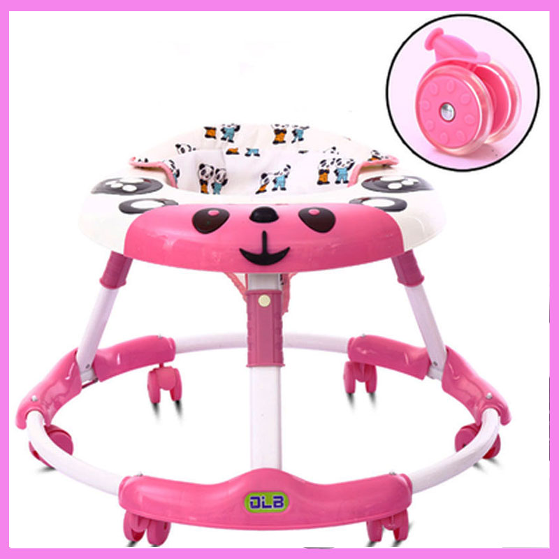 Foldable Baby Learning Multifunctional Baby Walker with 6 Wheels Anti Rollover Walker Car Walking Assistant Music Light 7~18 M 2016 new baby walker car anti roll over multifunctional baby stroller music toys plate baby walk learning car folding walker c01