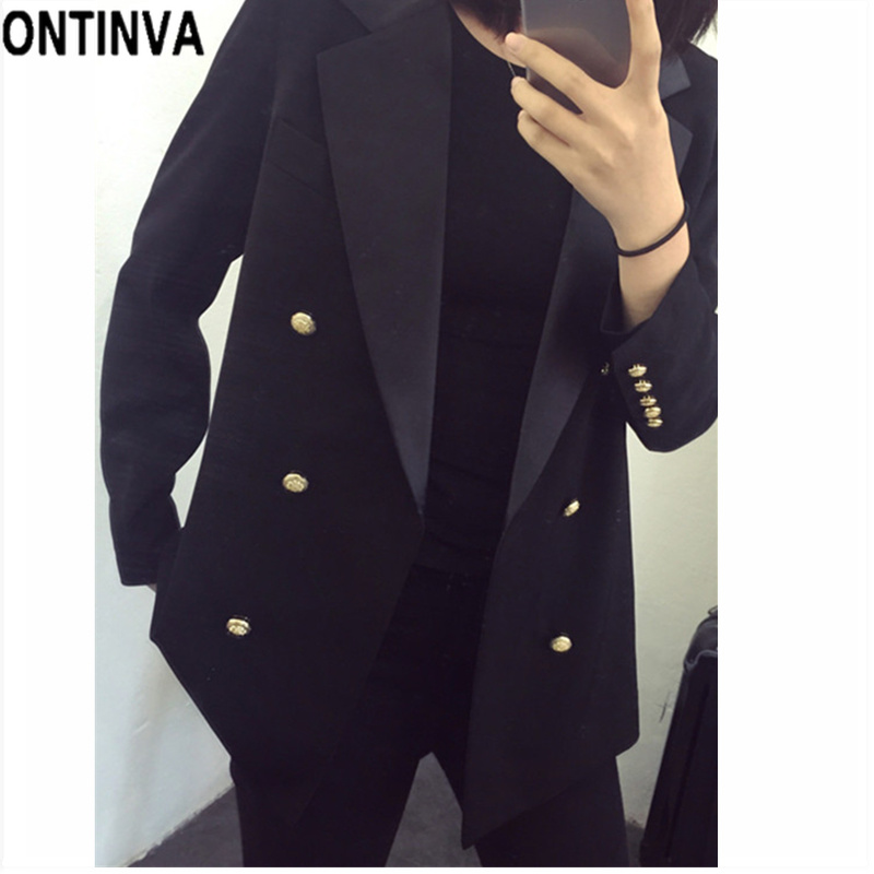 5a0142d7c7b Women Blazers Fashion Double Breasted Plus Size 5XL Chaqueta Office ...