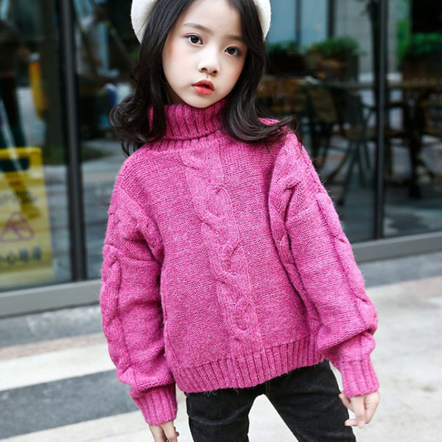 e3a3b7399 3D pattern cotton sweaters for girls autumn winter 2017 baby teenage ...