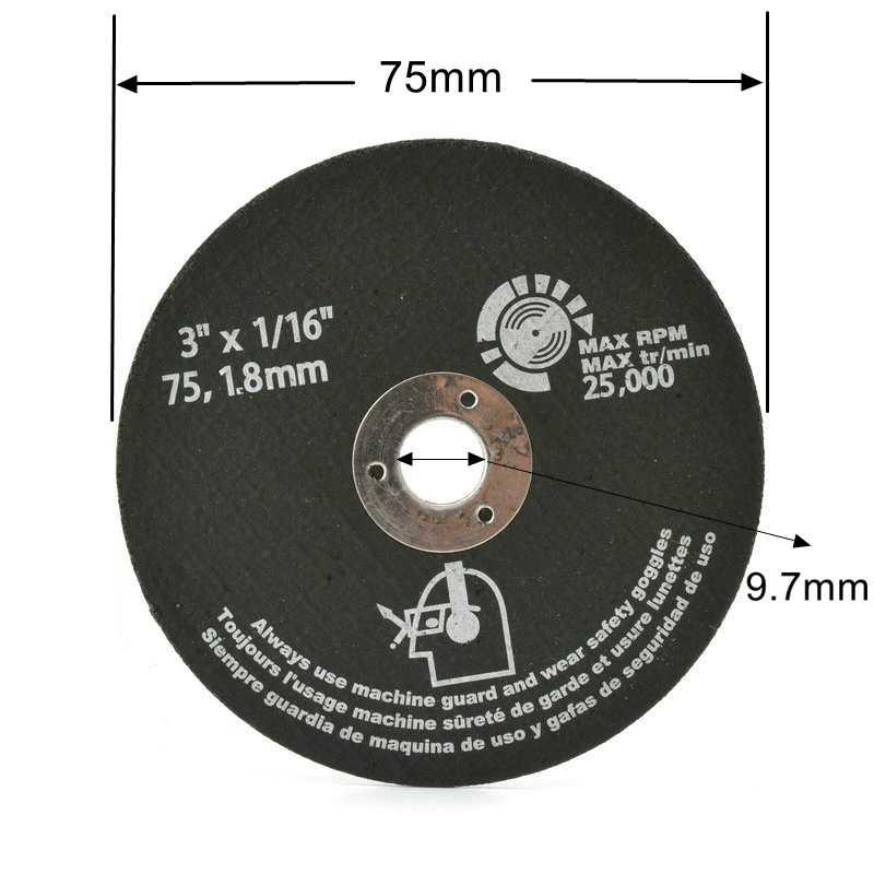 """10 sztuk 3 """"75mm tarcze tnące żywica tarcza szlifierska frez do metalu"""