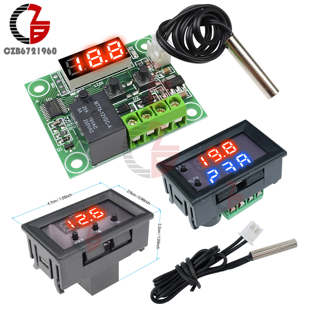 4848mm Digital Temperature Controller Thermostat K J E S R Pt100 Stc1000 Build Page 32 12v 24v 110v 220v W1209wk W1209 Regulator Thermoregulator Incubator Sensor Meter Ac