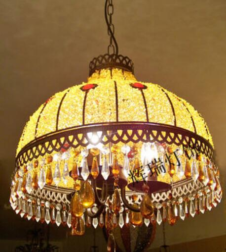 40cm Bohemia multicolour 3 american pendant light entrance lights study light bedroom light pendant lamp BXY10 quoizel tfbl2818 belle 3 light pendant