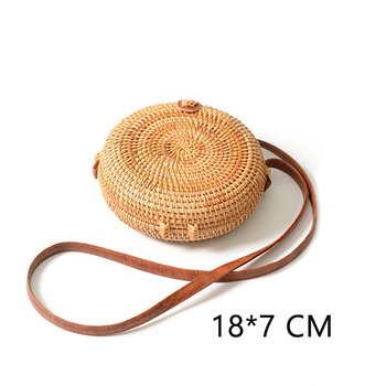 Lovevook round straw bags for women 2019 summer woven beach bag handmade rattan and bamboo bag crossbody shoulder bag for ladies 4