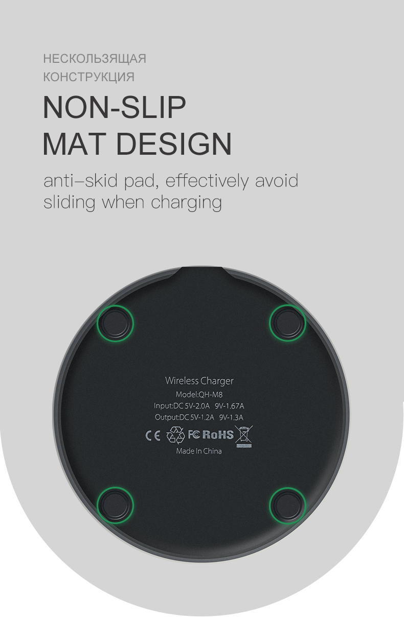 ESVNE 5W Qi Wireless Charger for iPhone X Xs MAX XR 8 plus Fast Charging for Samsung S8 S9 Plus Note 9 8 USB Phone Charger Pad-in Wireless Chargers from Cellphones & Telecommunications on Aliexpress.com | Alibaba Group 9