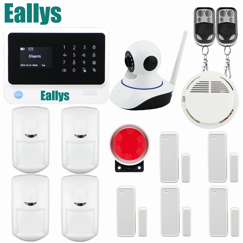 2.4G WiFi Alarm System Home Office Wireless GSM Home Security Alarm System IOS Android APP Control IP Camera PIR Motion Detector wireless gsm pstn home alarm system android ios app control glass vibration sensor co detector 8218g