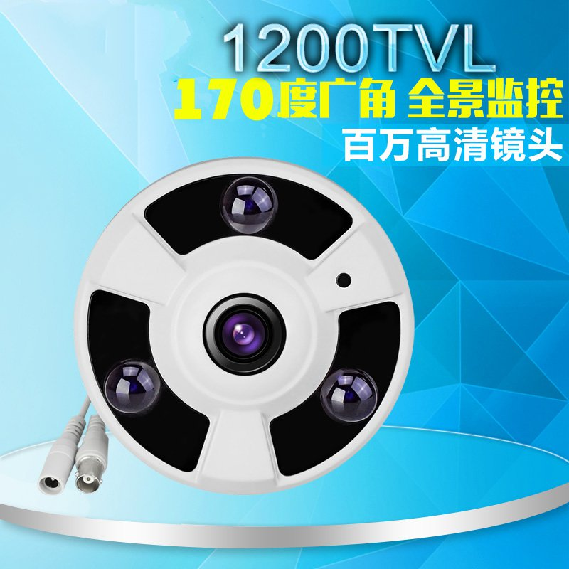 HD 360 degree wide-angle panoramic camera simulation