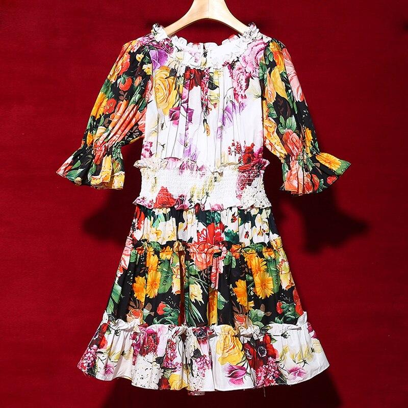 6c3b515df5 D'été Rouge Mini Femmes Chaude Floral Coton Roosarosee Vacances Imprimé  Elastique 2019 Vintage Robes Femme ...