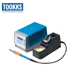 Image 2 - LEISTO T12 11 Intelligent Lead Free Soldering Station BGA PCB Motherboard Repair Soldering Iron 75W With 3 pcs Solder Iron Tips