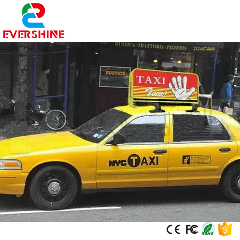 lastest hot sale Outdoor Double Side P5 Full Color 3G GPS Taxi Roof LED Sign for sale p6 outdoor single color double sided taxi top advertising taxi led sign wireless taxi led top light display