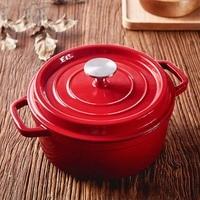 24CM diameter cast iron pot soup pot cooker iron uncoated nonstick kitchen cooker cookware