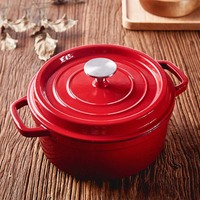 24CM diameter cast iron pot soup pot cooker iron uncoated nonstick kitchen cooker cookware