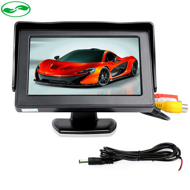 4.3 Inch TFT LCD Car Parking Monitor Video Player For Rear View Camera With 2 Video input