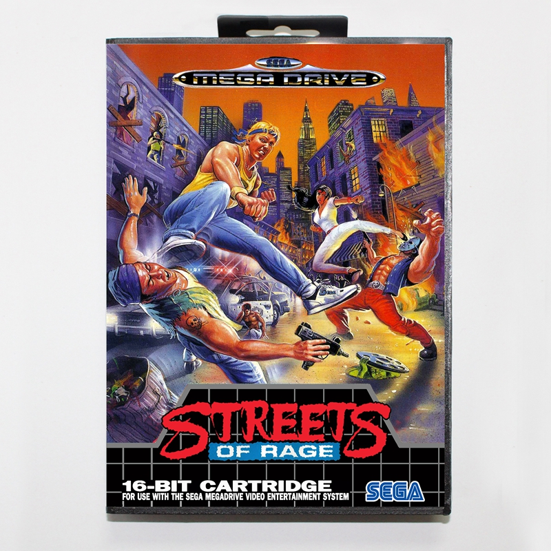 Sega MD games card - Streets of Rage USA/EU with box for Sega MegaDrive Video Game Console 16 bit MD card