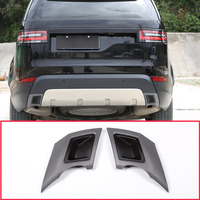 2pcs Car Tail Throat Exhaust Plate Protection Cover Trim For Land Rover Discovery 5 S/SE/HSE LR5 2017 2018 L462 Car Accessories