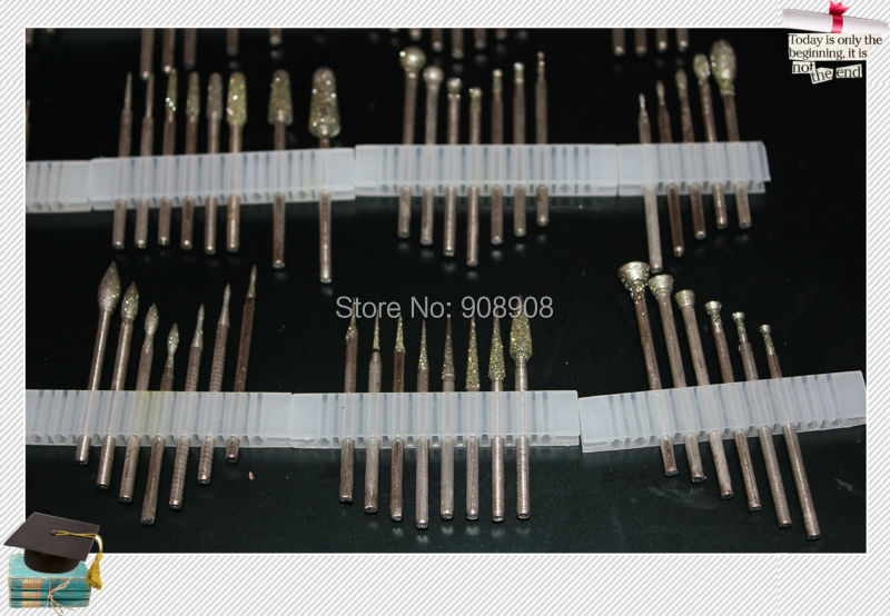 102 stks dremel micromotor handboor foredom gereedschap diamant - Schurende gereedschappen - Foto 4