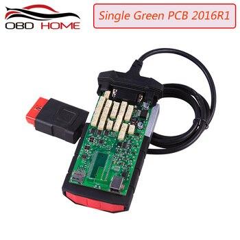 Narzędzie diagnostyczne zielone przekaźniki pojedyncza płyta PCB nowe vci z bluetooth 2015 r3/2016 R1 wersja na cd z karton PRO