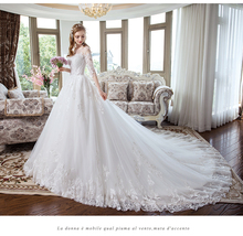 2019 New Arrival wedding dress half Sleeve Gorgeous Princess Gown long train Wedding Dresses Vestidos De Noiva Princesa
