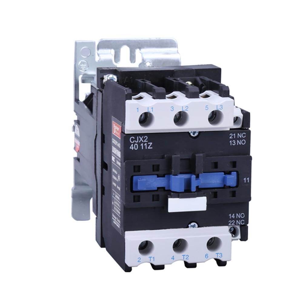 DC contactor CJX2 4011Z DC Magnetic Contactor 40A LP1 4011 contactors DC12V 24V 48V 110V motor
