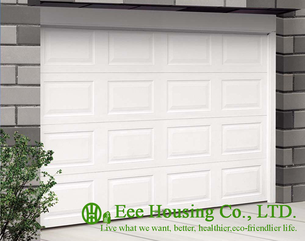 White Color Remote Control Galvanized Steel Garage Door With Sandwich Panel Panel, Garage Door Factory In China