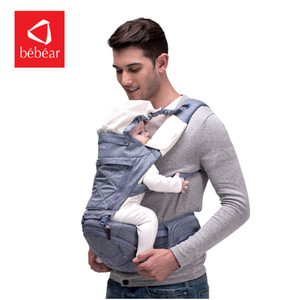 Image 2 - Bebear Baby Carrier AX16 0 30 Months 4 in 1 Infant Comfortable Sling Backpack Hip Seat Baby Wrap Carrier Ergonomic Baby Belt