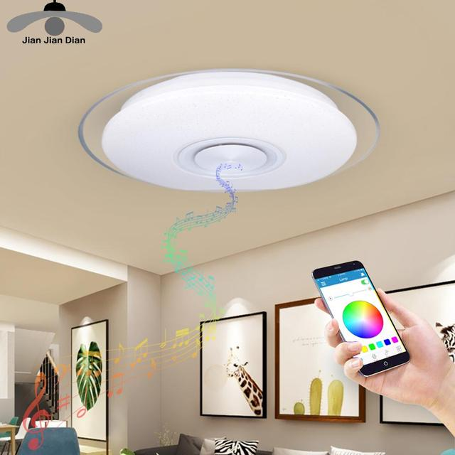 LED Ceiling Light Bluetooth RGB Smart Music Dimmable Lamp AC 220V 240V Living Room Home Decor Party 36W 40W APP Remote Control