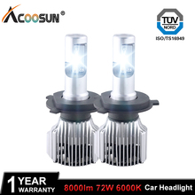 Car LED Headlight Bulbs H4 H7 LED Car lights H11 9004 9005 9006 9007 5205 9012 H27 72W 8000LM Automobiles Headlamp LEDs Fog Lamp