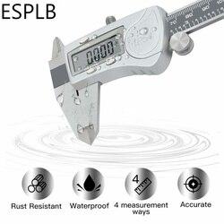 ESPLB Waterproof Vernier Calipers High Precision Electronic Digital IP54 6'' 150mm Stainless Steel Caliper Measuring Tool