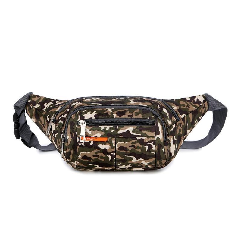 Fanny Pack Black Waterproof Money Belt Bag Men Purse Teenager's Travel Wallet Belt Male Chest Waist Bags Cigarette Case For Phon