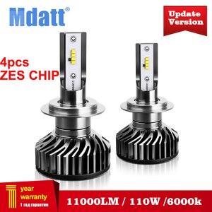 Image 1 - Mdatt סופר בהיר H7 H4 LED פנסי מכונית Canbus ZES פנס הנורה 110W 11000LM H1 9005 9006 H8 H9 6000K 12V אוטומטי אור